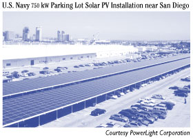 U.S. Navy 750-kW Parking Lot  Solar PV Installation near San Diego